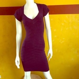 French Connection purple body-con dress